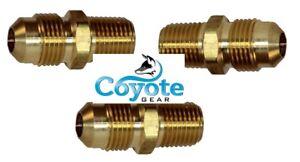 "3 Pack Lot 1//4/"" NPT Street 90 Degree Elbow Brass Fitting Male Female Coyote Gear"