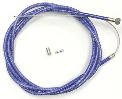 "1 BRAKE CABLE 68/"" PURPLE CAPS NEW BICYCLE BIKE 1 DOUBLE SHEATH HOUSING 60/"""