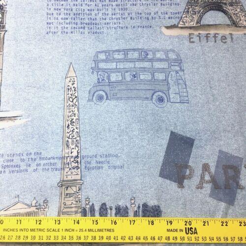 160cm X 50cm París Torre Eiffel de Londres Big City Urban Art Coser Tela del edredón