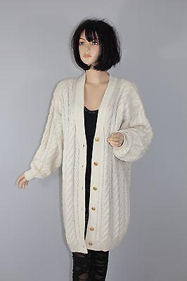 80er 80s Vintage Norvegesi Gilet A Maglia Cardigan Cappotto Mohair Lana Knit Coat M-mostra Il Titolo Originale Per Cancellare Il Fastidio E Per Estinguere La Sete
