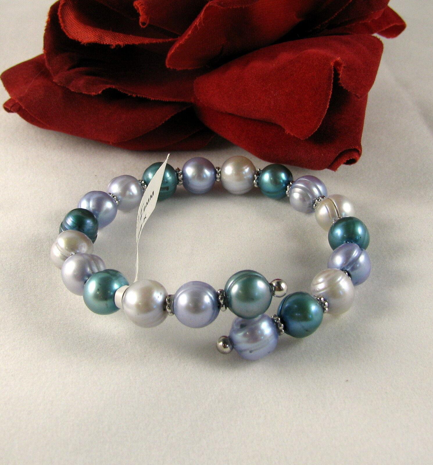 Gorgeous Genuine Pearl Wire Wrap   Bracelet  FERAL  CAT RESCUE