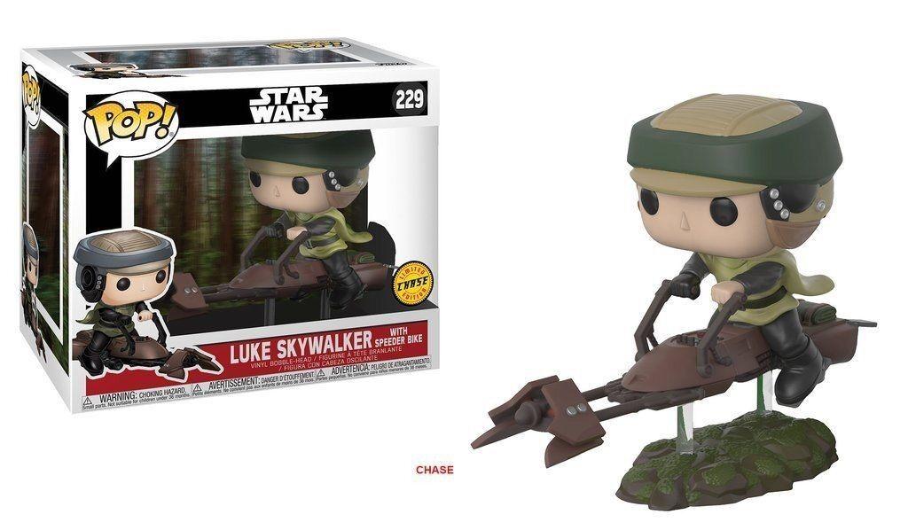 NEW Star Wars Funko Pop VINILE Deluxe  229 Luke Skywalker con Speeder Bike Chase