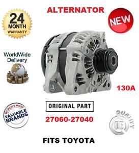 para-TOYOTA-2706027040-27060-27040-Nuevo-Original-OEM-130a-Alternador-unidad