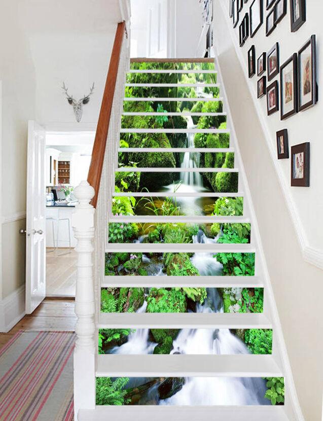 3D Moss Hills Lake Stair Risers Decoration Photo Mural Vinyl Decal WandPapier UK