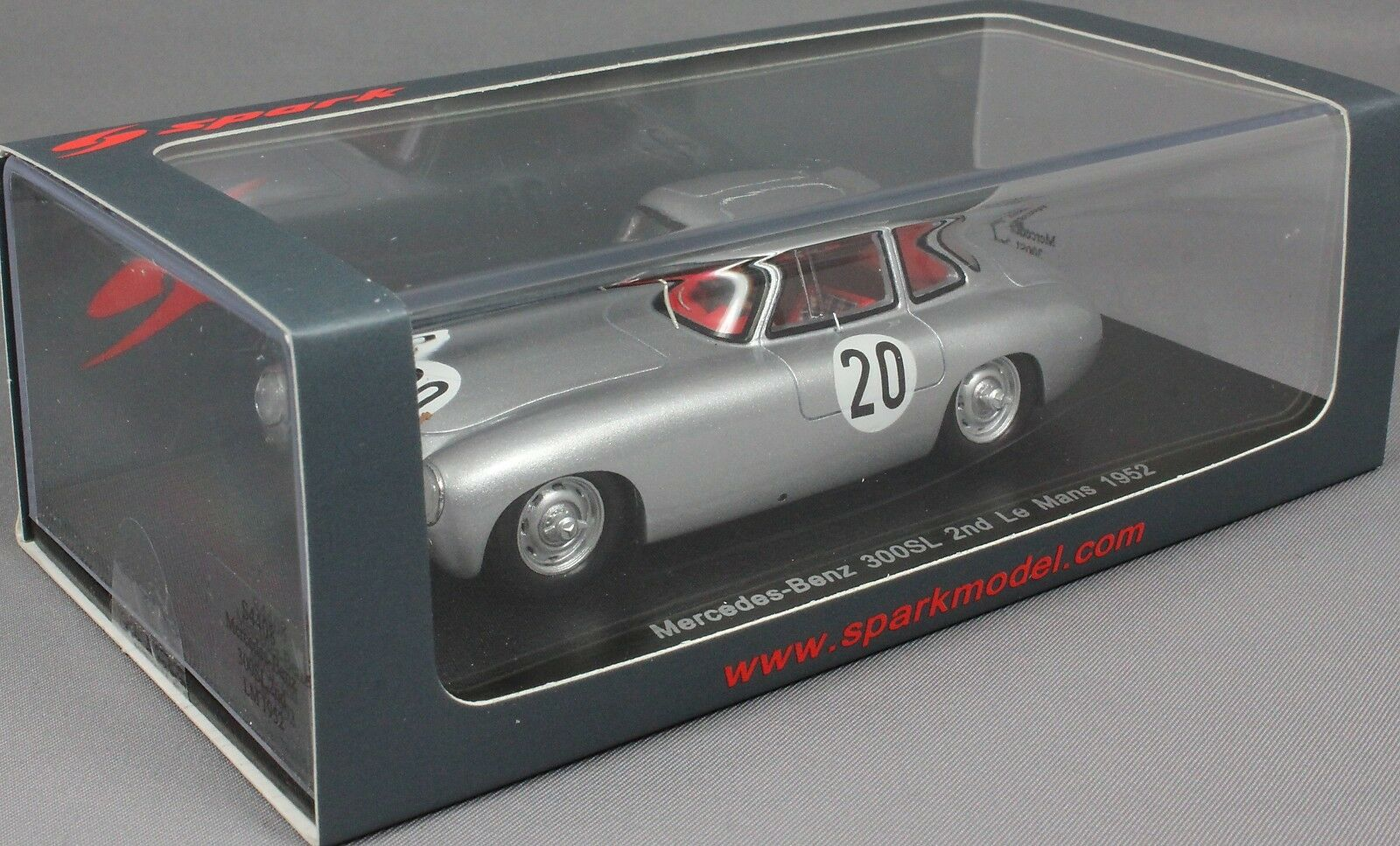Spark Spark Spark Mercedes-Benz 300SL 2nd Le Mans 1952 Helfrich & niedemayr S4408 1/43 Resina 614ffe