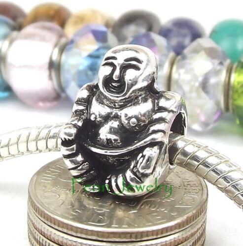 Happy Buddha Charm Interchangeable Large Hole Bead for European Charm Bracelet
