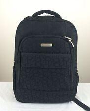 CALVIN KLEIN Travel Luggage Laptop Backpack Signature Monogram Jacquard Black