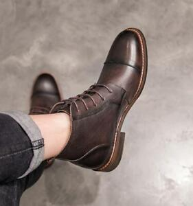 Real Leather Chukka Ankle Boots Shoes
