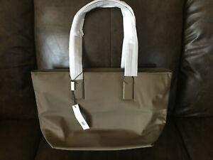 82885d8a9 $225 Marc Jacobs Nylon Wingman Tote Bag Handbag Large Stone Grey NWT ...