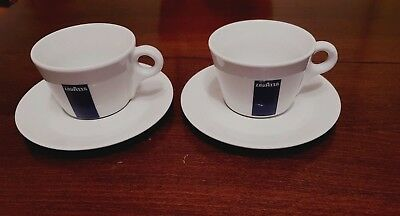 Lavazza Tierra Cappuccino Cups// Mugs with saucers two in a lot