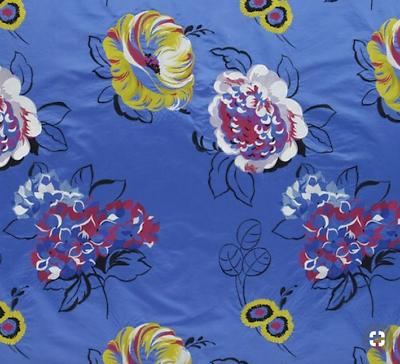 Bello Designers Guild Fabric Mararhi Ocean Una Bella Seta Ricamata F1856-