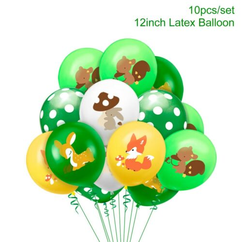 Woodland Jungle Animal Tableware Cake Topper Banner Baby Shower Birthday Party