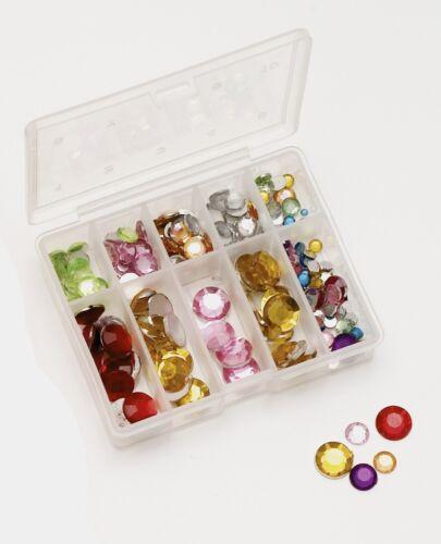 in praktischer Box 135 Kristall Klebeaugen für Wobbler Blinker Spinner