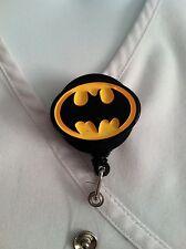 HANDMADE BATMAN GOTHAM ID BADGE HOLDER NURSES ALLIGATOR CLIP SUPERMAN DC COMICS