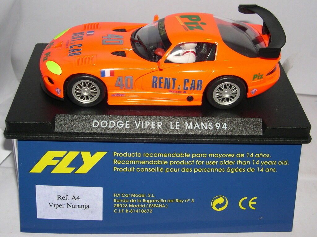 FLY A4 A4 A4 DODGE VIPER GTS-R 40 LE MANS 94 ORANGE MB c688d4