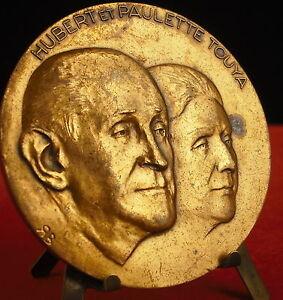 * Médaille Robert Et Paulette Touya Les Chantiers Modernes Par R Baron Medal 勋章 Chaud Et Coupe-Vent