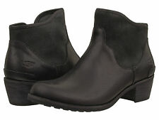 88aed094551 UGG Australia Penelope Shearling Lined Ankle BOOTS Black Leather Sz ...