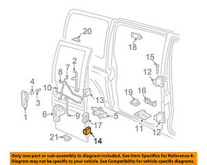gm door diagram also foneplanet de \u2022gm oem side sliding door hinge 19257344 ebay rh ebay com