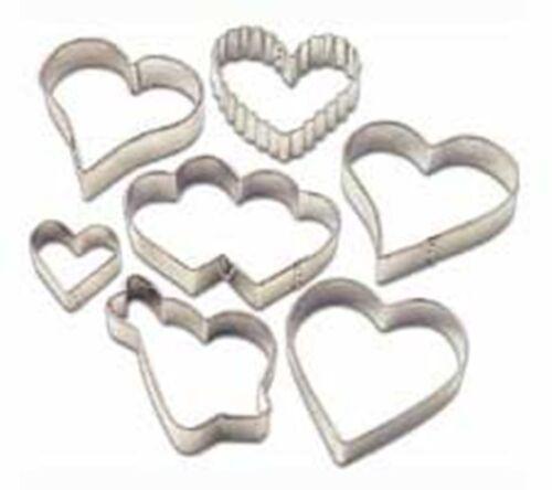 Wilton 7pc saint valentin cookie cutter set en forme de coeur cookie cutters new