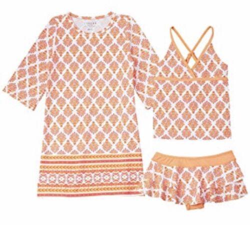 Cabana Life Nantucket Sound 3 Piece Swim Suit /& Tunic Sz 2T NWT