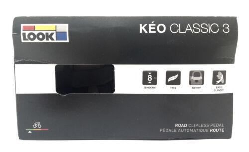 LOOK KEO Classic 3 Route Pédales Avec Gray Grip Crampons Noir//Blanc