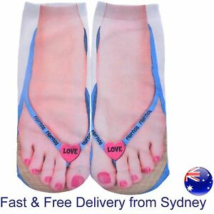 901025df83a95 Details about Thong socks heart socks - sandal friends FF love toe - Flip  flop novelty sock