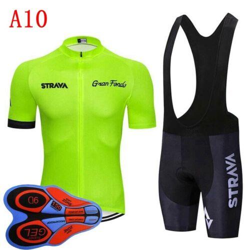 Mens Cycling Clothing Bike Short Sleeve Shirt Bib Shorts Set Bicycle Jersey Kits