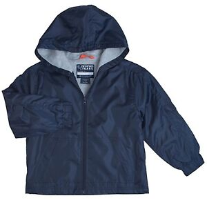 BOYS NAVY BLUE FRENCH TOAST FLEECE LINED WINDBREAKER JACKET WITH ...