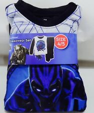 18cb2f653c Black Panther Movie 2 Piece Flannel Sleepwear Set Pajamas Boy s Size 4 5  Marvel