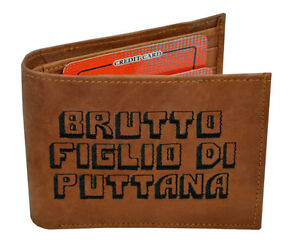 The Original BMF Blue BLU BALOO Embroidery Leather Wallet