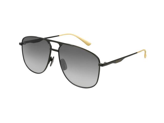 nuovo di zecca 547de e9a02 Occhiali da Sole Gucci GG0336S nero grigio gradient doppio ponte 002