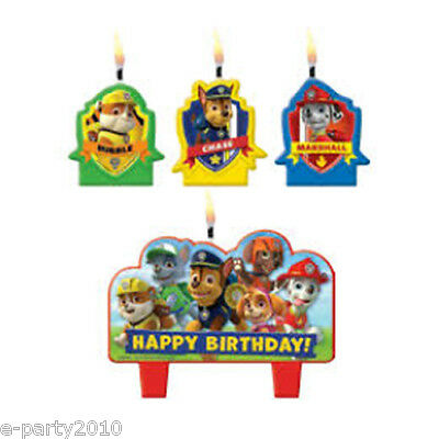 PAW PATROL MINI CANDLE SET (4pc) ~ Birthday Party Supplies Decorations Cake