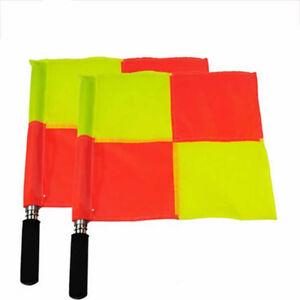 2PCS-Football-Linesman-Flags-Rugby-Hockey-Train-Referee-Flag-Equipment-GO9X
