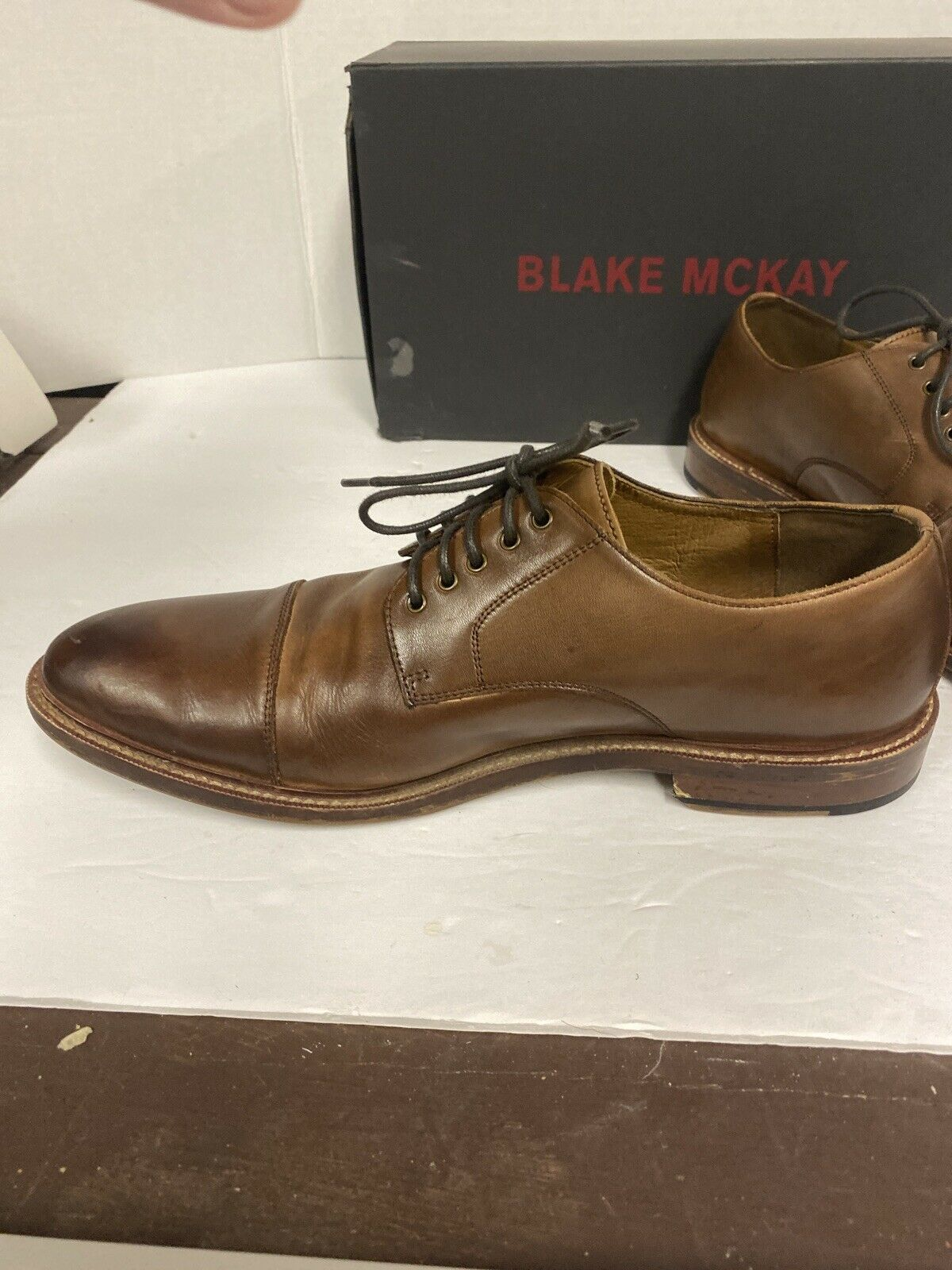 New BLAKE MCKAY CLARK T9 CAP TOE OXFORD