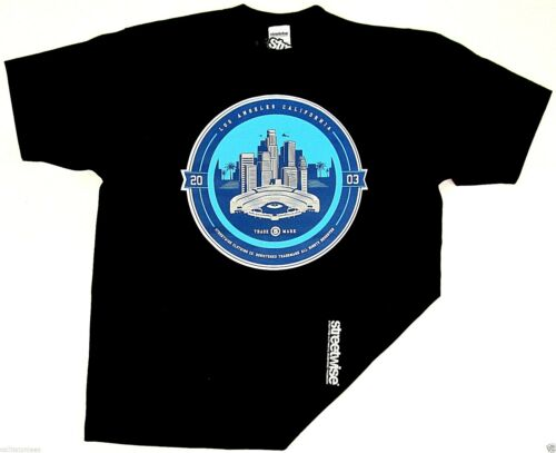 STREETWISE L.A ALL DAY T-shirt Los Angeles LA City Tee Men XL-4XL Black