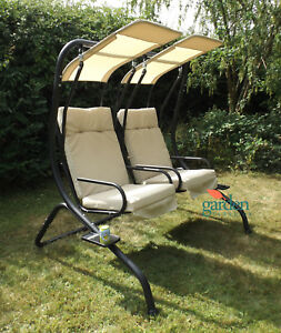 Florence Patio Garden Duo Seat Swing Hanging Sun Lounger