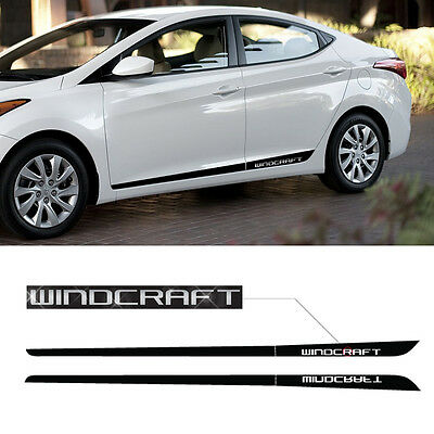 Side Door Protector Decal Sticker Chrome Atype For HYUNDAI 2011-2016 Elantra MD