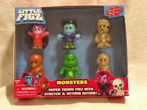 Little-Figz-Series-1-Monsters-Set-6-Stretch-Action-Figures-Series-NEW