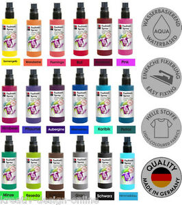 marabu fashion spray 100ml textilfarbe zum spr hen farbwahl ebay. Black Bedroom Furniture Sets. Home Design Ideas