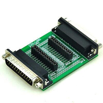 D-SUB DB25 Measuring or Test Adapter Module Board, Male to Female, DSUB DB-25.