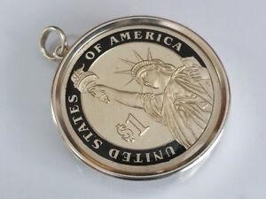 Münzanhänger 1 Dollar Usa Freiheitsstatue Liberty Silber Fassung 925