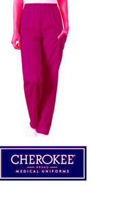 CHEROKEE LADIES RASPBERRY SCRUBS STYLE 1035C TROUSER PANTS VARIOUS SIZES