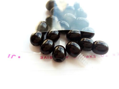 color negro-brillante Tornillo De Joyería De Plástico Broches LOT-10
