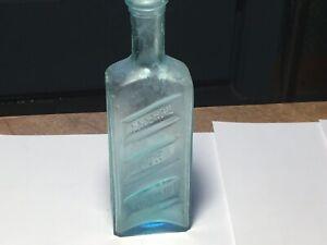 Vintage Aqua Enosburgh Falls Vt GLYCEROIL FOR THE HAIR Bottle GLYCEROIL CO