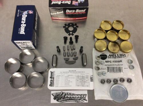 SBC Small Block Chevy Cam Bearings Freeze Plugs Cam Lock Kit CH8 MPE100BR