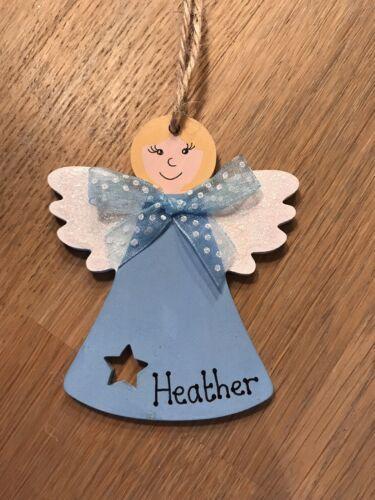 Peint en bois Ange Bleu personnalisé décoration de Noël