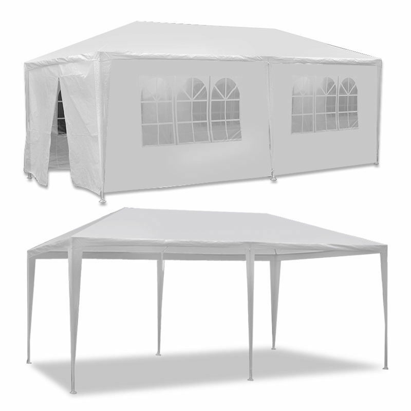 10′ x 20′ Canopy Party Wedding Tent With 6 Walls Garden BBQ Tent Gazebo Outdoor Garden Structures & Shade