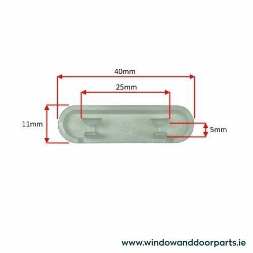 30 x Pvc Window Drain Caps Weep Hole Drainage Covers uPVC Double Glazing White