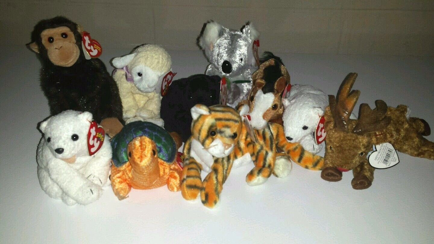VINTAGE TY Beanie Babies Lot of 10 New with Tags