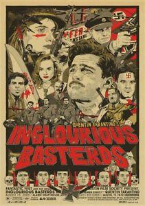 INGLOURIOUS-BASTERDS-Movie-PHOTO-Print-POSTER-Quentin-Tarantino-Brad-Pitt-Art-04